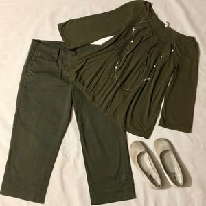 Military Green Capri and Top